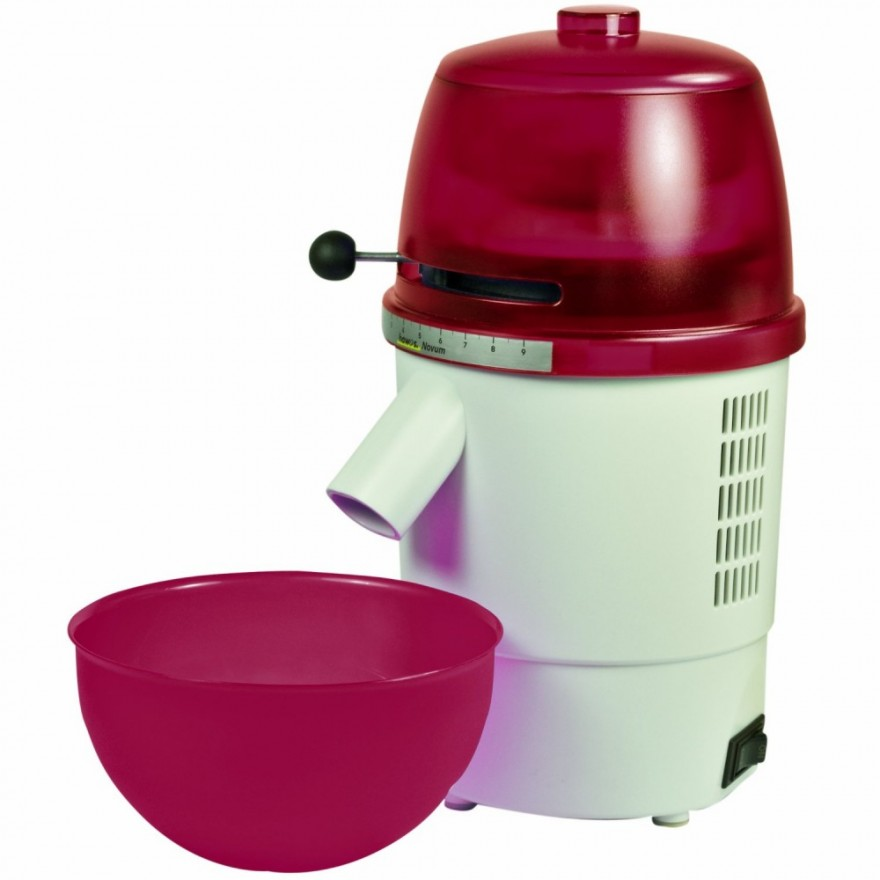 Electric Grain Mill hawos Novum, red