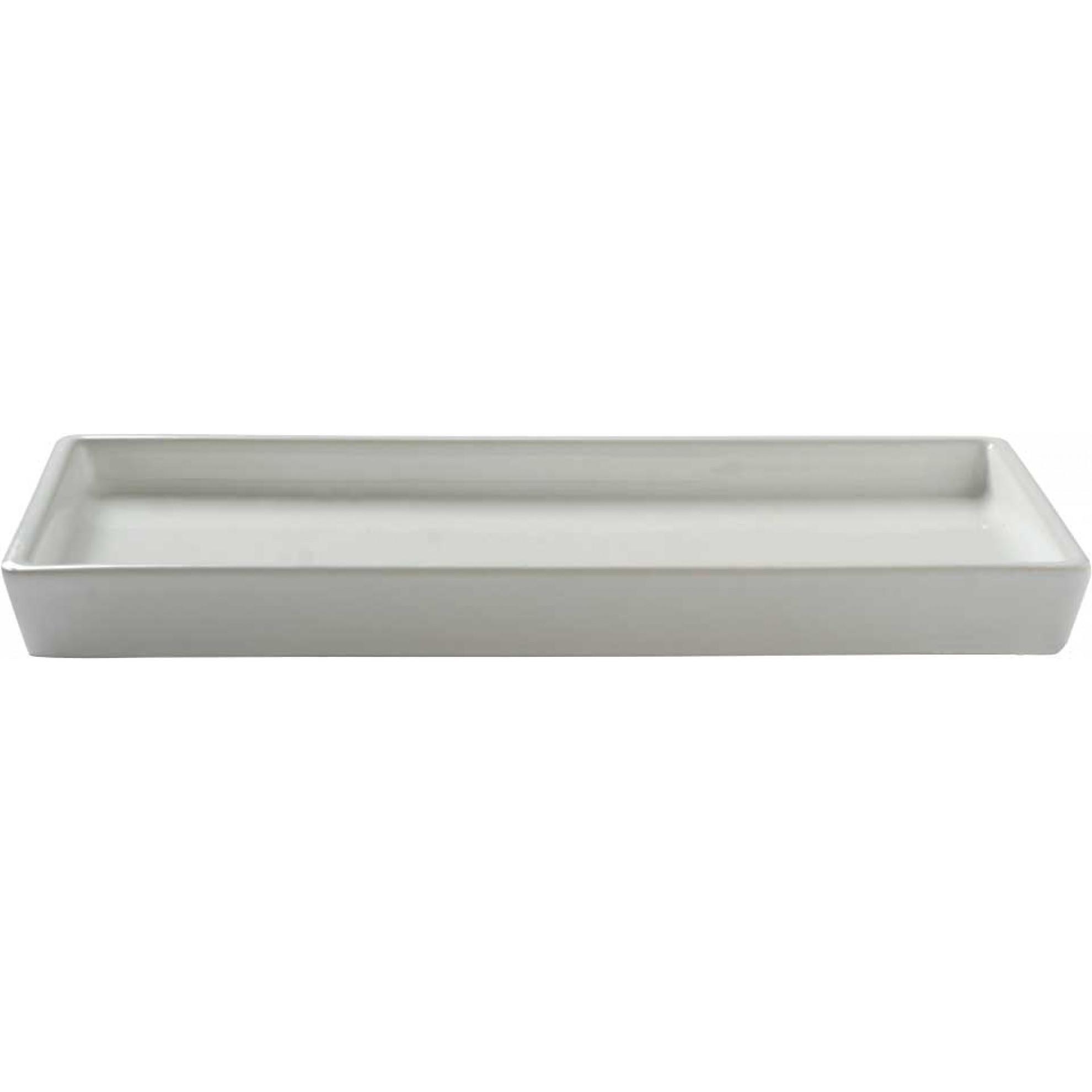 Spare Ceramic Drip Tray White For Triple Rack